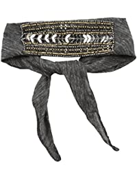 Steve Madden Women's Solid Bandana Choker With Sequins and Beads