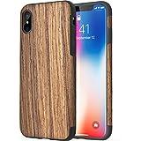 """ROCK """"Origin"""" iPhone X Holzhülle Tasche Schutzhülle aus echtem Holz / rosewood"""