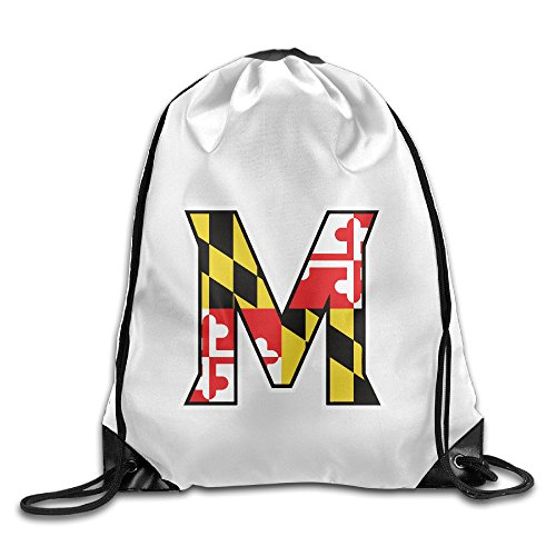 UNC Tar Heels Sport Kordelzug Rucksack Sack Tasche, UMCP Sport Team,Maryland (Kordelzug Team)