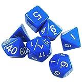 TOYMYTOY Set di dadi poliedrici Dadi da gioco per gioco di società (Blu)