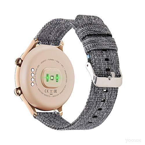 YOOSIDE Ticwatch C2 Gold Cinturino,18mm Quick Release Nato Cinturino in Nylon di Ricambio per Ticwatch C2 Gold,Fossil Donna...