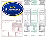 Pack 5 Talonarios CMR Autocopiativos Anónimos | Acordes a la legislación de Transporte vigente