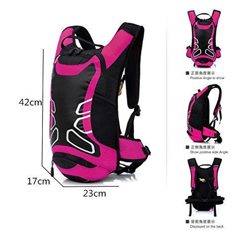 zaino, escursioni all'aperto 12L dello zaino della spalla della bicicletta borsa da viaggio impermeabile alpinismo, giallo Purple
