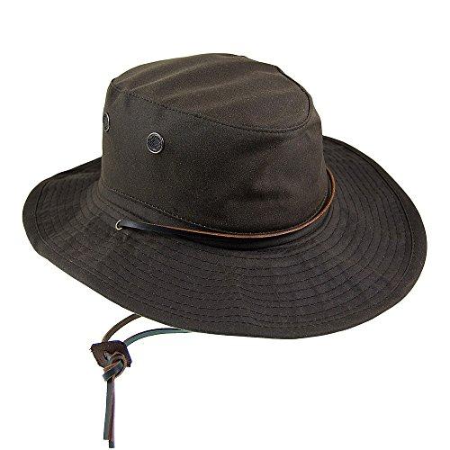 Village Hats Chapeau Bob Boonie en Coton Ciré Marron Dorfman Pacific