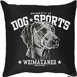 Weimaraner - Hunde Motiv Kissenbezug HUNDEVERSTEHER -Geschenk Hundefreunde 40 x 40 cm Deko- u. Nutzkissen Überzug : )