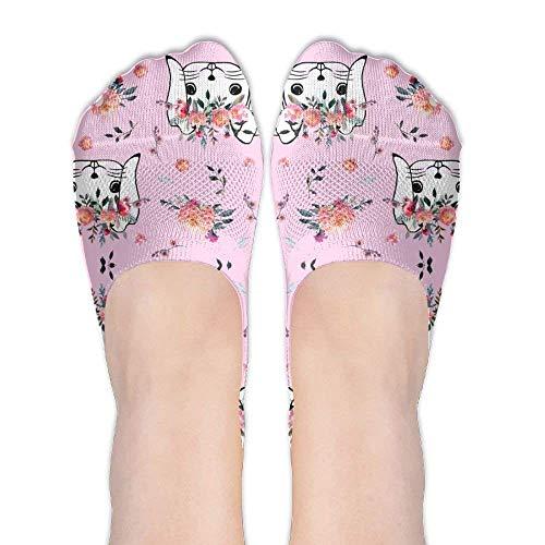 Bag shrots Women Easter Bunny Head Pink Cotton Thin Hidden No Show Casual Liner Athletic Running Socks Non Slip Flat Boat Line Alpinestars Slip