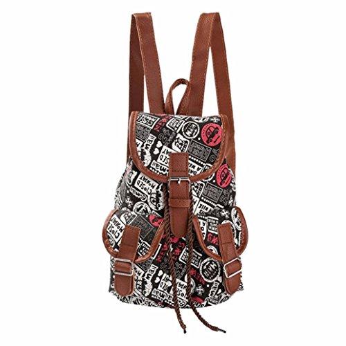 Koly_Travel Bag donne del vento nazionale di stampa dello zaino Drawstring (D)