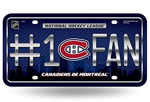 NHL #1 Fan License Plate Montreal Canadiens