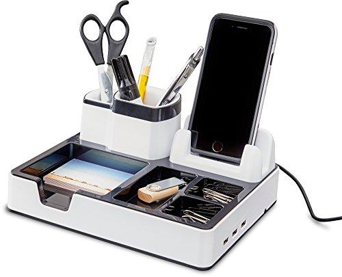 Desk Organizer mit 3 USB Anschlüssen
