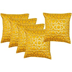 Durable Dupian Silk Decorative Square Throw Pillow Cover Cushion Case Sofa Chair car Seat Pillowcase 12 X 12 Inches 30cm x 30cm set of 5 pcs
