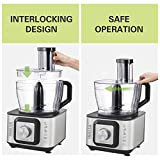 Inalsa Food Processor INOX 1000-Watt with Blender Jar / 304 Grade SS Dry Grinding/Chutney Jar / 7 Accessories | 2 Yr Warranty on Motor |Centrifugal/Citrus Juicer | (Black/Silver)