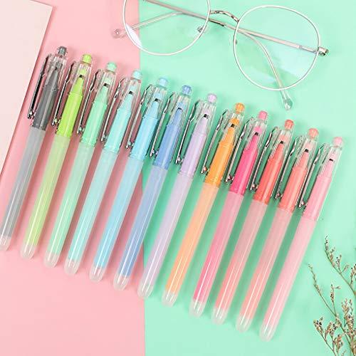 Hunpta@ Filzstifte Gelschreiber,Neue 12 Farben Set Gel Pen Student Test Pen Schulbedarf für Zeichnung Malerei Bürobedarf Schreibwaren (Mehrfarbig)