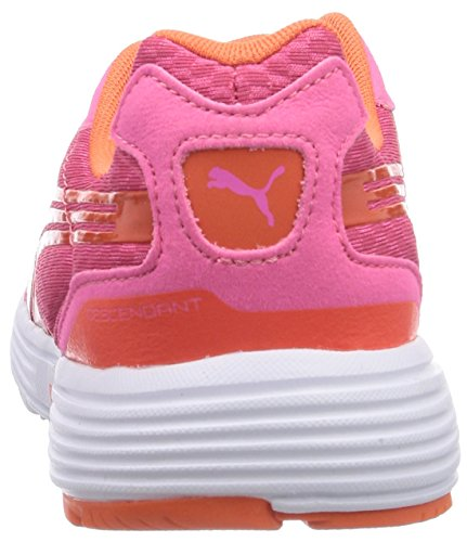 Puma - Descendant Jr, Scarpe fitness Unisex – Bambini Rosa (Rosa (fluo pink-nasturtium 18))
