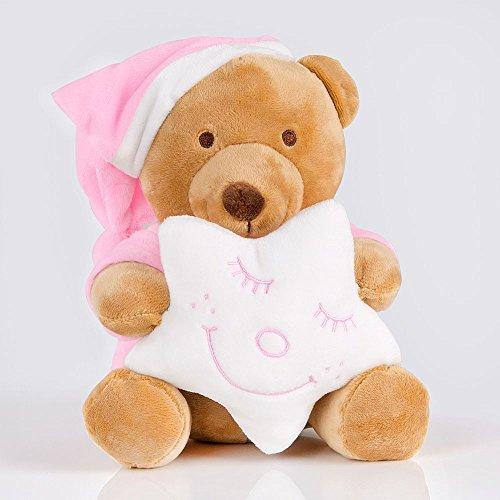 Kuschelige Spieluhr/Musikuhr/ Einschlafhilfe in versch. Motiven und Melodien, Melodien:Guten Abend, Spieluhren:Spieluhr Sleeping Bear Rosa