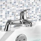 iBathUK | Chrome Bath Filler Mixer Tap Monobloc Bathroom Lever Faucet TB115