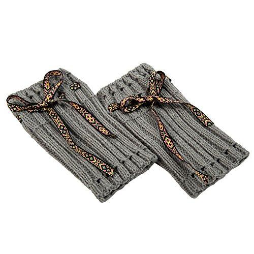FIRSS Damen Beinlinge Socken Spitzen Beinwärmer Stulpen Gemischt Wärmer Zehensocken Stricken Boot-Abdeckung Manschette häkeln ()