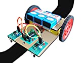 #10: Line tracker following robot with track and project report