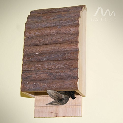 Gardigo Bat Box Pipistrelli colore naturale del legno, albergo bat bat nido