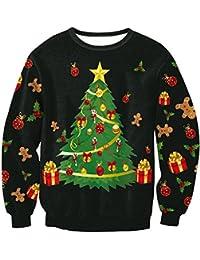 Balai Maglione di Natale per le donne Felpe con cappuccio Felpe con maniche lunghe Pullover Felpe