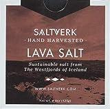 Saltverk Lava Salt - Meersalzflocken mit Aktivkohle gefärbt, 1er Pack (1 x 125 g)