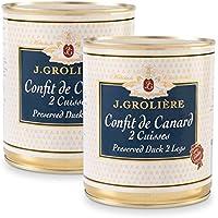 Lot promotionnel de 2 boîtes de Confits de Canard 2 cuisses, recette artisanale du Périgord sans colorants ni conservateurs