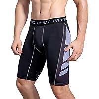AMZSPORT Herren Fitness Hose Pro Cool Compression Tights Shorts Funktionswäsche Pants