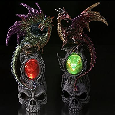 Led Skull Emblem Dark Legends Dragon Figurine Our Fantasy And Gothic Dragon Range Are Great