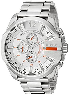 Diesel Reloj cronógrafo para Hombre de Cuarzo con Correa en Acero Inoxidable DZ4328