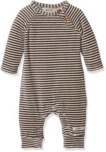 Papfar Unisex Baby Spieler Soft Velvet Langarm, Mehrfarbig (Chateau Grey 417), 74 (Herstellergröße: 9M)