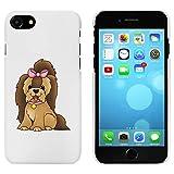 Azeeda Blanco 'Perro Yorkshire Terrier' Funda / Carcasa para iPhone 7...