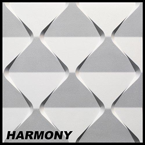 1 Platte 3D Polystyrol Paneele Wand Decke Dekor Dekoration 60x60cm, HARMONY