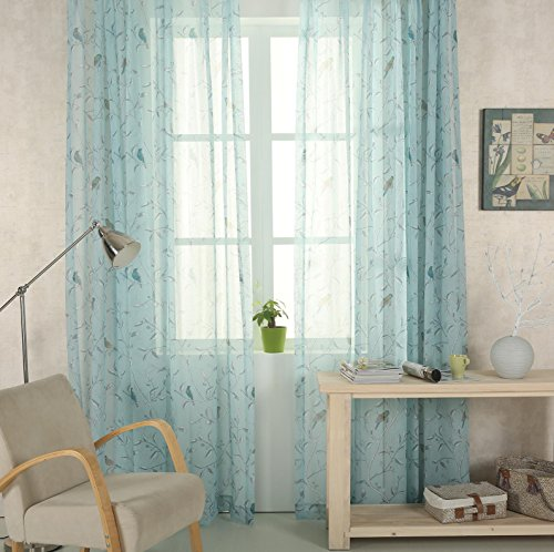Tenda a pannello shabby chic in voile con passanti, color carta da...
