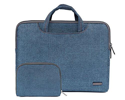 Bohemien Segeltuchstoff Hülle Sleeve Laptop Aktentasche MacBooks Laptops NL Hell Blau 15.6 Inch Blau