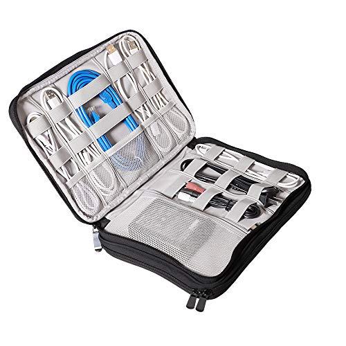 f297986327 Hotchy Borsa Accessori Elettronici Impermeabile Organizzatore di Viaggio per  Gli Accessori elettronici Doppio Strato Organizzatore Cavi Viaggio Custodia  per ...