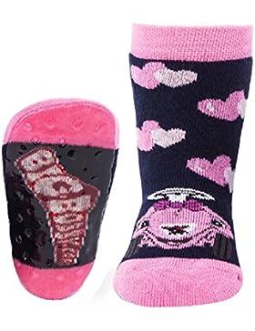 Ewers Baby- und Kindersocken (Mehrere Farben) - (1 Paar) Socken mit Antirutschsohle für Mädchen - Strümpfe