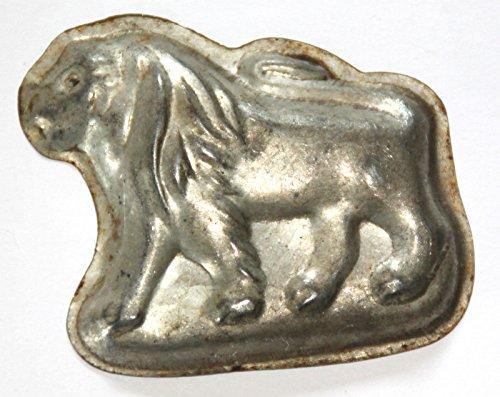 Antiquitäten - antike Backform, Bärentatzenform, Kleingebäck, Verzierung - Löwe - (124)