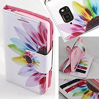Galaxy S6 Active Case, Samsung Galaxy S6 Active Wallet Case - SOGA?? PU Leather Magnetic Flip Design Wallet Case for Samsung Galaxy S6 Active G890 (AT&T) - Colorful Sun flower [SWG61]