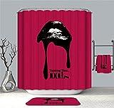 YuLl Einfache Farbe Drucken Duschvorhang Badezimmer Wasserdicht Anti-schimmel Vorhänge Vorhänge an Den Fenstern mit 12 Haken W180*H 200 cm 100% Polyester Produktion