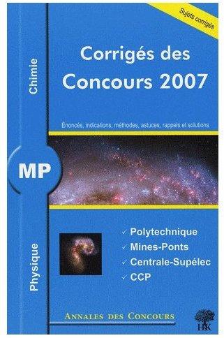Physique et chimie MP