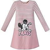 Mädchen Kleid Streifen Karikatur Stickerei Lange Ärmel Baumwolle Kleiden Gr. 134