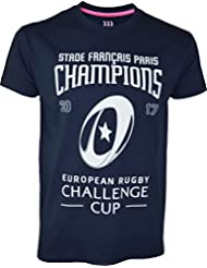 T-shirt Stade Français Paris - CHAMPION 2017 - European Challenge Cup - Collection officielle - Taille adulte Homme