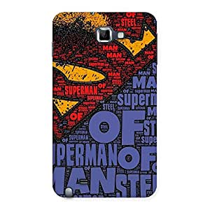 Delighted Premier Day Typo Multicolor Back Case Cover for Galaxy Note