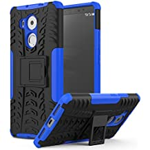 MoKo Huawei Mate 8 Funda - Heavy Duty Rugged Dual Layer Armor with Kickstand Protective Funda para Huawei Mate 8 6-inch Smartphone 2015 Release, Azul