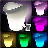 Cubitera led, luminosa, RGB, recargable