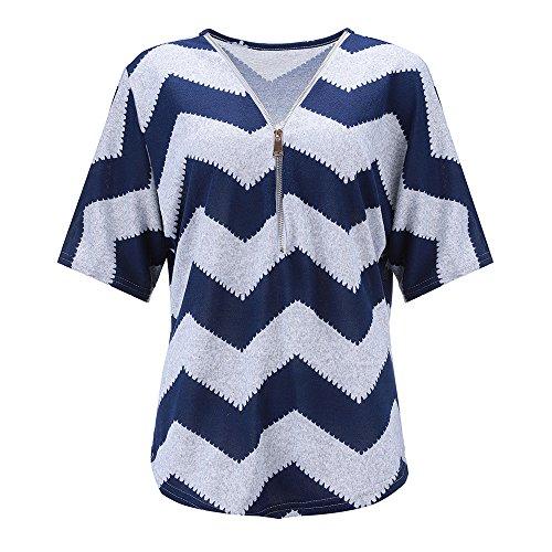 BHYDRY Frauen Reißverschluss Kurzarm Lässige Weste Top Bluse Damen Sommer Lose T-Shirts Zu - Hard-rock-jacke