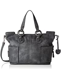Shopper Bag, Womens Satchel, Grau (Dim Grey), 18x37x38 cm (B x H T) Sansibar