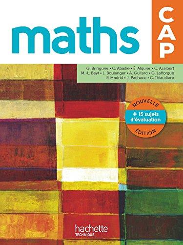 Mathmatiques CAP - Livre lve - Ed. 2016