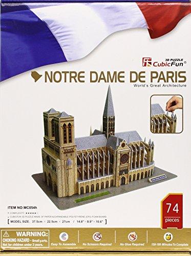 Notre Dame of Paris 3D Puzzle with Book