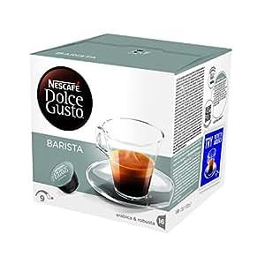 Nescafé Dolce Gusto Barista Caffè Espresso, Intensità 9, 6 Confezioni da 16 Capsule [96 Capsule]