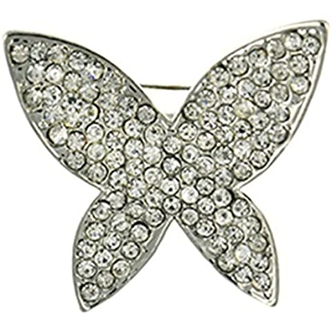 AnaZoz Joyería de Moda Broche Unisex Acero Inoxidable Broche Mariposa Broches y Pins Para Mujer Broche de Boda Color